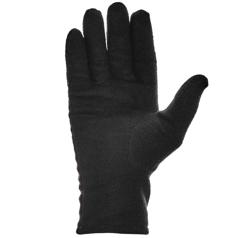 Sous-gant randonnée montagne RANDO 100 polaire adulte noir