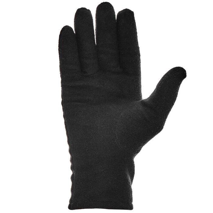 Fleece onderhandschoenen bergtrekking volwassenen Trek 500 gerecycleerd zwart