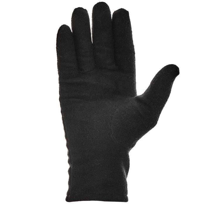 Handschoenen voor bergtrekking volwassenen Trek 100 fleece zwart