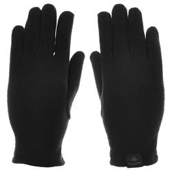 Children's Fleece Hiking Gloves MH100 - Black