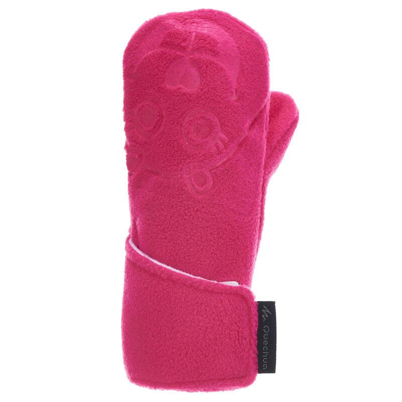 Children's Fleece Hiking Mittens MH100 - Pink