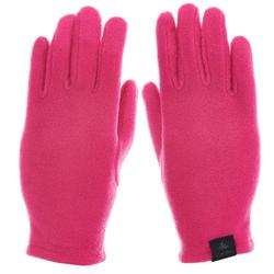兒童款健行刷毛手套MH100-粉紅色