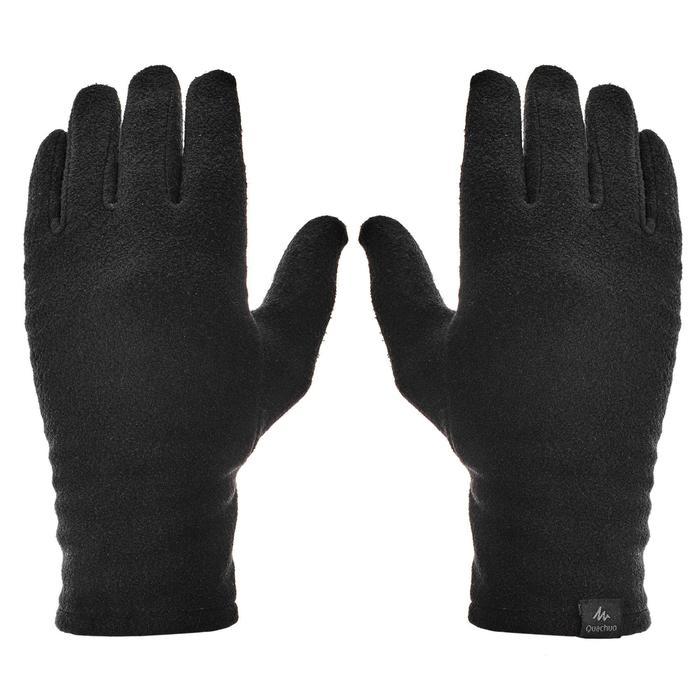 Fleece handschoenen voor bergtrekking Trek 100 volwassenen zwart