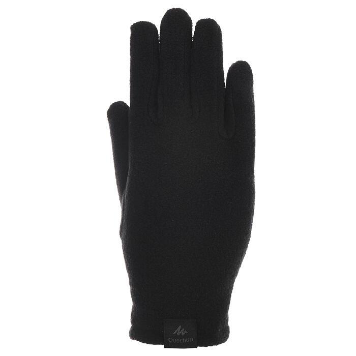 Handschuhe Fleece SH100 Warm Kinder schwarz