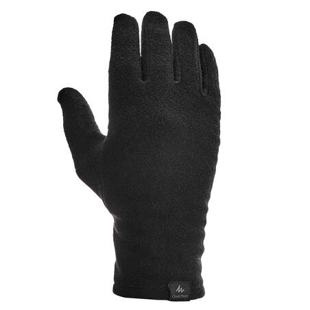 Adult Mountain Trekking Fleece Liner Gloves TREK 100 - Black