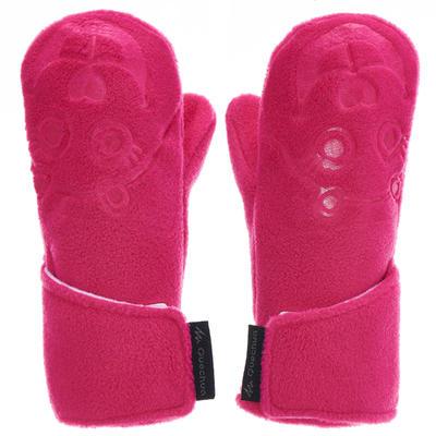 כפפות אצבע חמות מפליז לטיולים SH100 לילדים - ורוד