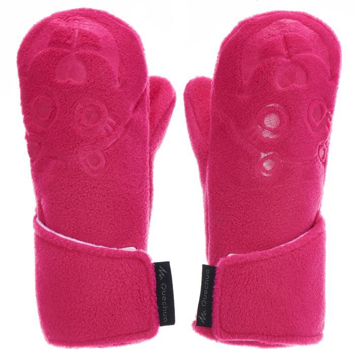 Moufles de randonnée enfant MH100 polaire roses