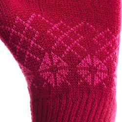 Gants de randonnée enfant MH100 maille roses