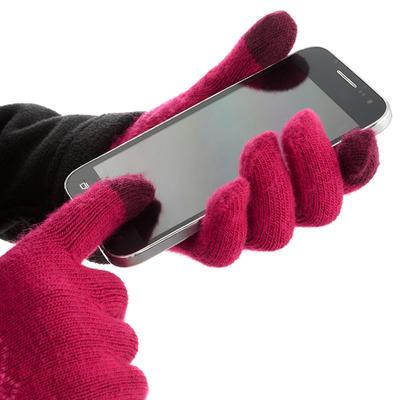 Guantes táctiles de excursionismo niños Arpenaz 50 rosado