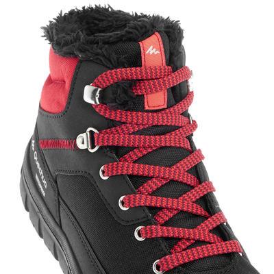 SH100 מגפי שרוכים חמות ועמידות למים לנוער להליכה בשלג - אדום