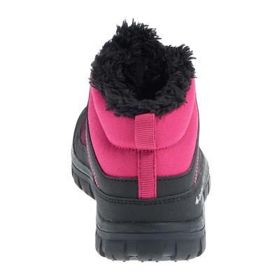 נעלי שרוכים חמות ועמידות במים לילדים SH100 לטיולים באזורים מושלגים - ורוד