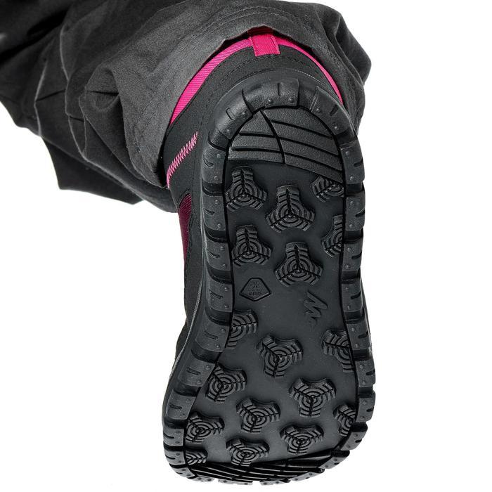 Winterschuhe Winterwandern SH100 Warm wasserdicht Klettverschluss Kinder rosa
