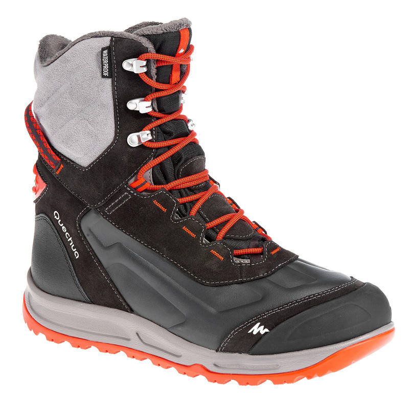 SH920 x-warm men's grey high snow hiking boots.