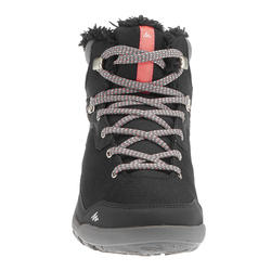 Botas de senderismo por la nieve para mujer SH100 cálidas e impermeables negro