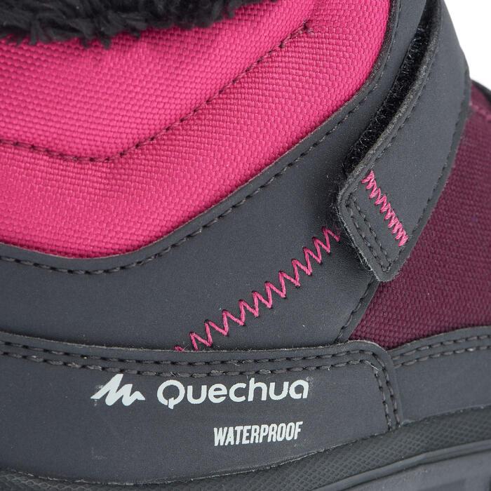 Chaussures de randonnée neige junior SH100 warm scratch mid rose
