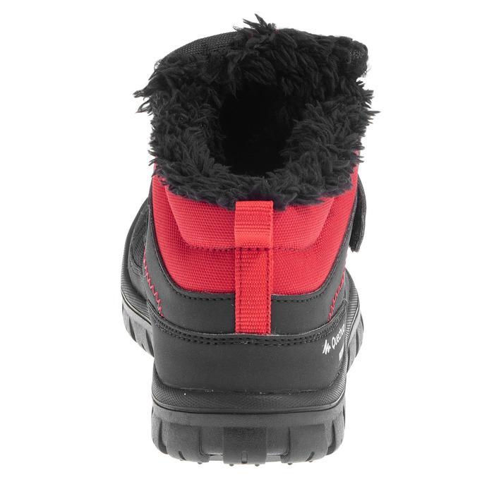 Winterschuhe Winterwandern SH100 Warm wasserdicht Klettverschluss Kinder schwarz