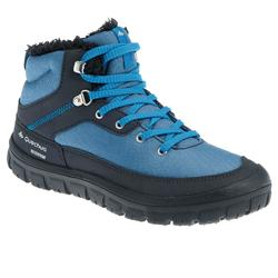 SH100 Laces Children's Warm and Waterproof Snow Hiking Shoes - Blue