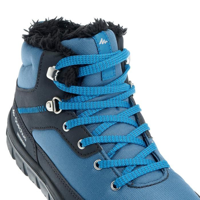 Children's Warm Lace-up Snow Hiking Shoes SH100 Warm Mid - Blue