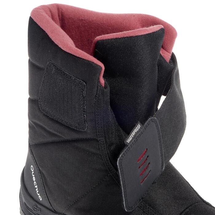 Winterstiefel Winterwandern SH100 X-Warm Damen schwarz/rosa