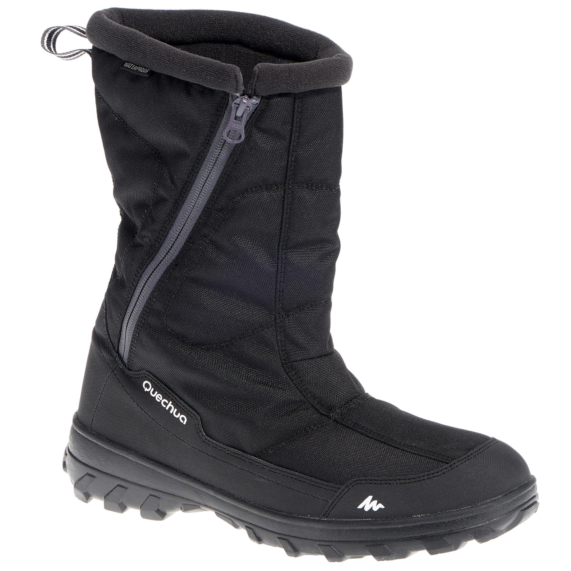 Botas de senderismo en la nieve para hombre SH500 cálidas e impermeables negro