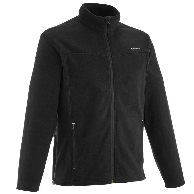 Forclaz 200 Men's Mountain Hiking Fleece Jacket - Black