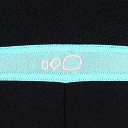 Chloorbestendig jammer badpak Anna voor aquabike zwart/oranje - 1014464