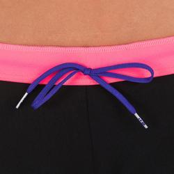 Anna Women's Chlorine-Resistant Aquabiking Swimsuit Bottoms - Black Pink
