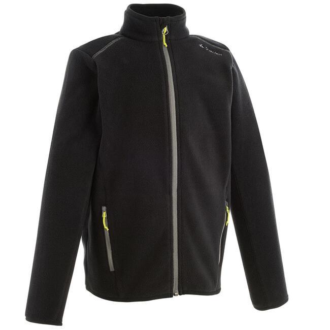 Kids' Hiking Fleece Jacket MH150 7-15 Years - Black