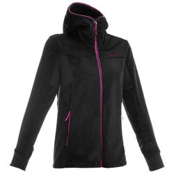MH520 Women's Mountain Hiking Fleece Jacket - Black