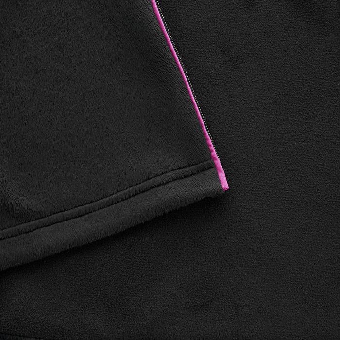 Fleece damesvest voor bergwandelen MH520 zwart