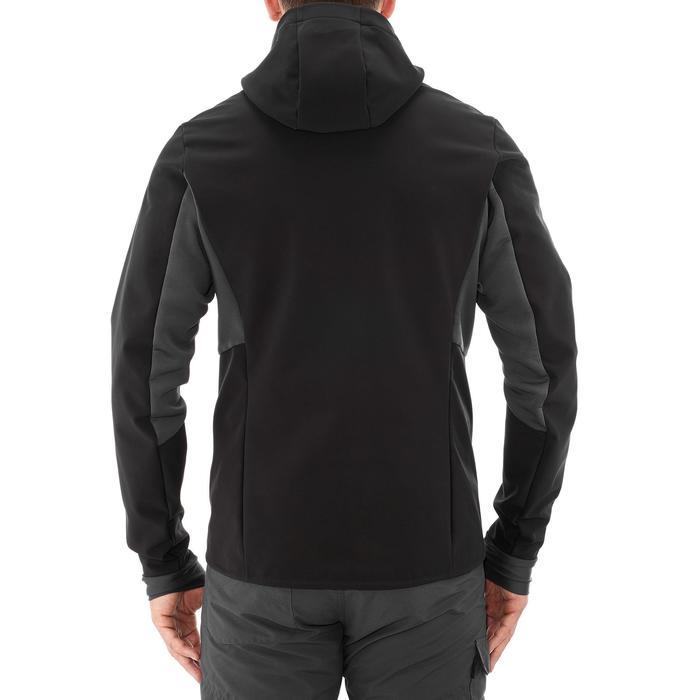 Softshell de trek montagne   TREK 500 WINDWARM noir homme