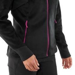 Veste polaire de randonnée en montagne MH520 Femme Noir