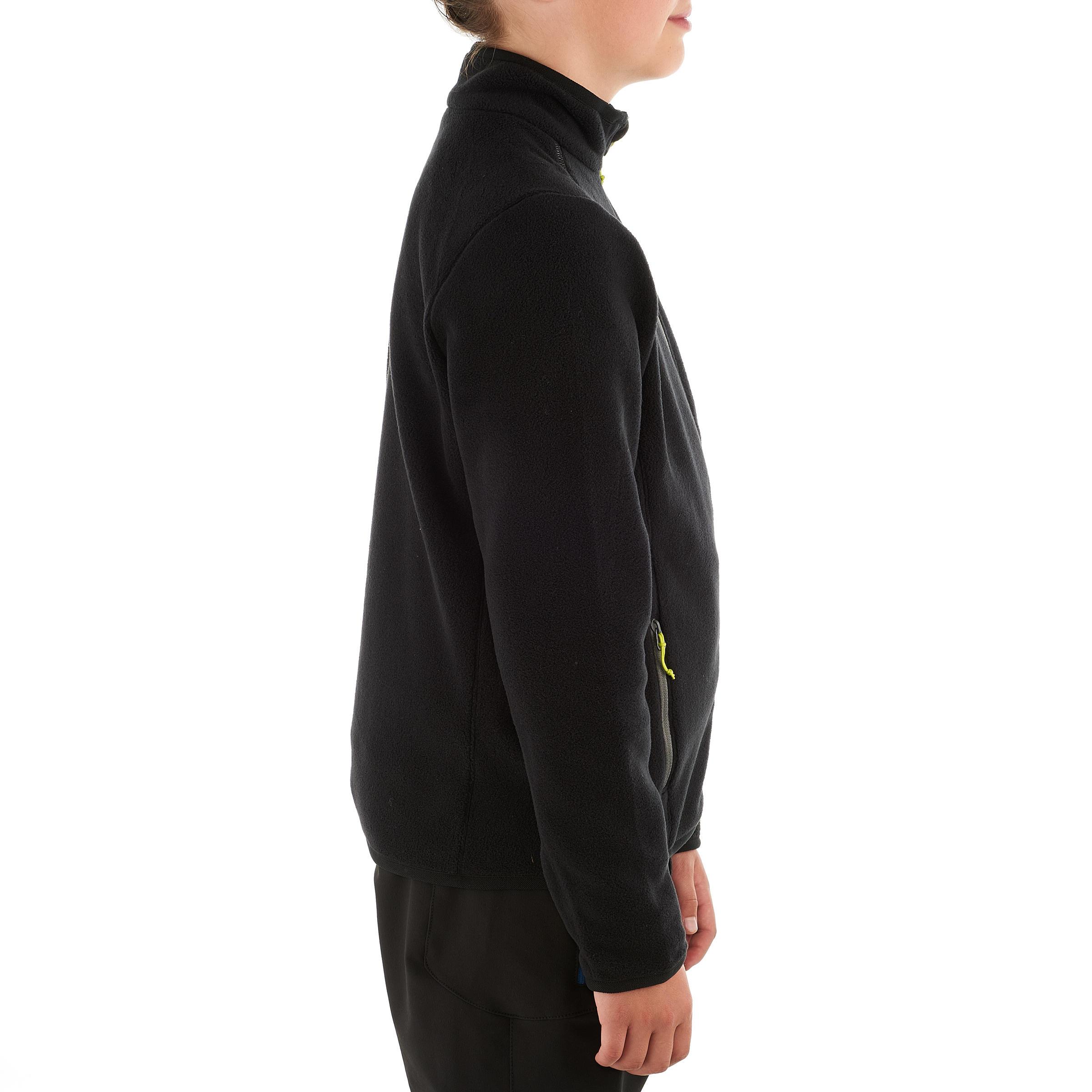 Boy's Hiking Fleece Jacket Hike 150 - Black