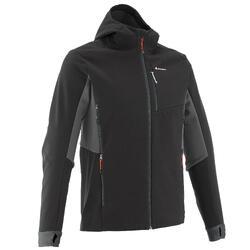 Heren softshell jas voor trekking Windwarm 500