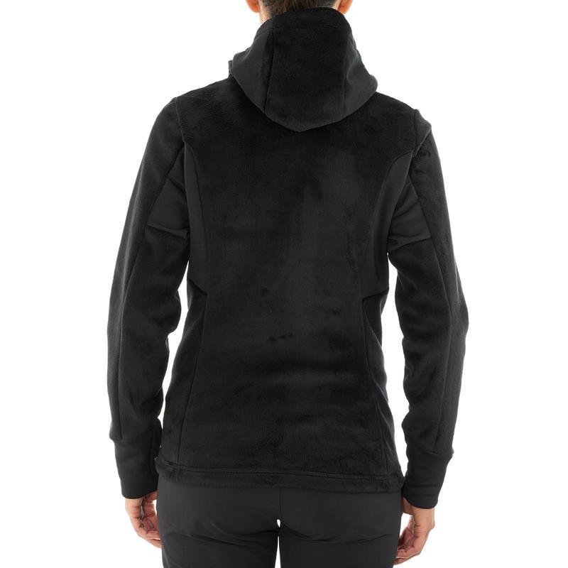 Chaqueta polar de senderismo montaña mujer MH520 Negra