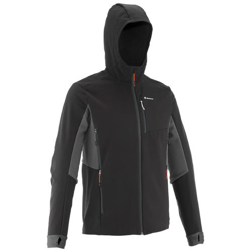 Softshell de trek montagne | TREK 500 WINDWARM noir homme