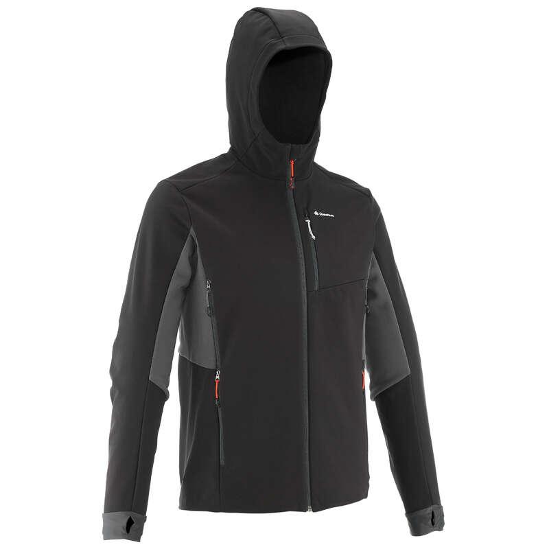 Férfi softshell kabát Túrázás - Férfi kabát Trek 500 Windwarm FORCLAZ - Férfi túraruházat