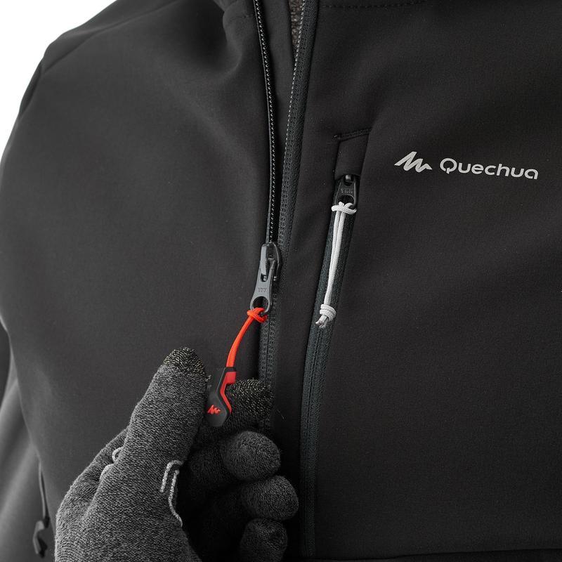 0f49decfc9f1e Homme Softshell Veste Noir Montagne Trekking Quechua Trek900 Windwarm  XSndTXrx