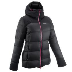 Abrigo Chaqueta Plumón Montaña y Trekking TREK 900 Acolchada Mujer Negro