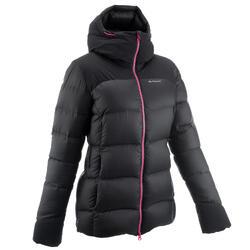 女款登山健行保暖羽絨外套Trek 900-黑色