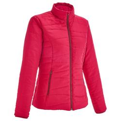 NH100 Women's Country Walking Padded Jacket - raspberry pink