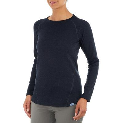 סוודר טיולים לנשים NH100 - כחול צי