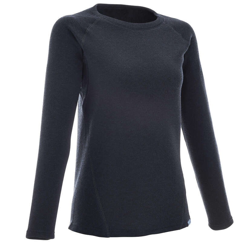 WOMEN NATURE HIKING JUMPERS/HOODIES Hiking - Women's pullover NH100 - Navy QUECHUA - Hiking Clothes
