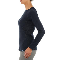 Suéter de senderismo en la naturaleza para mujer NH100 azul marino