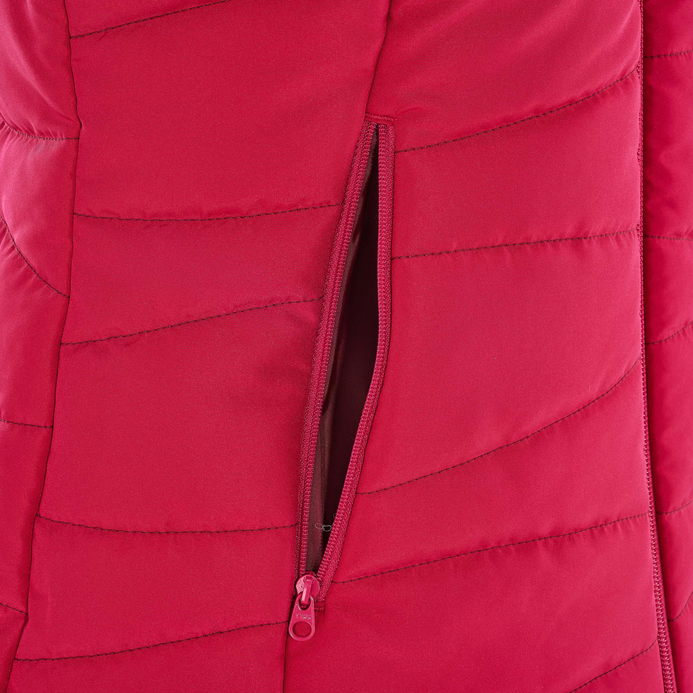 NH100 Women's Nature Hiking Gilet (Sleeveless Padded Jacket) - Pink