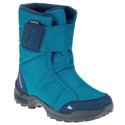 青少年保暖健行雪靴SH100-藍色