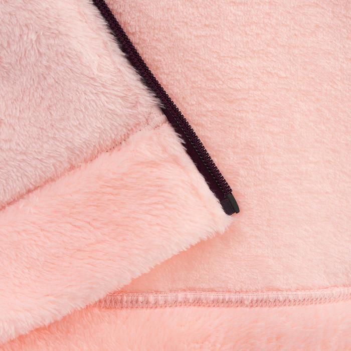 Veste polaire de randonnée Fille Hoodie Warm corail - 1015700
