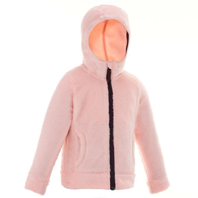 Chaqueta polar de senderismo niños 2-6 años warm SH500 rosado