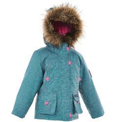 青少年保暖雪地健行外套SH500-藍色