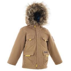 青少年保暖雪地健行外套SH500-棕色